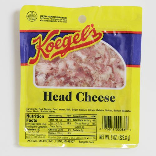 Koegel Head Cheese 5-8oz packs by Koegel Meats Inc