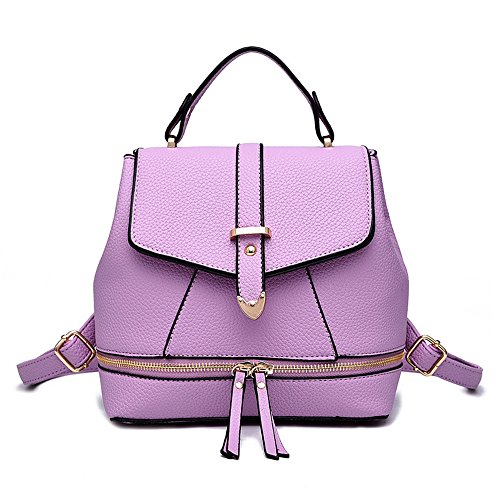 Shoulder X 20 Purple Sports Personality School X Wewod Women 22 Shopper 12 Travel Leisure lxhxw Backpack Bag Fashion Bag Cm Waterproof 44zR16t