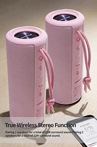 MIATONE Outdoor Portable Bluetooth Wireless Speaker (Waterproof) (Pink)