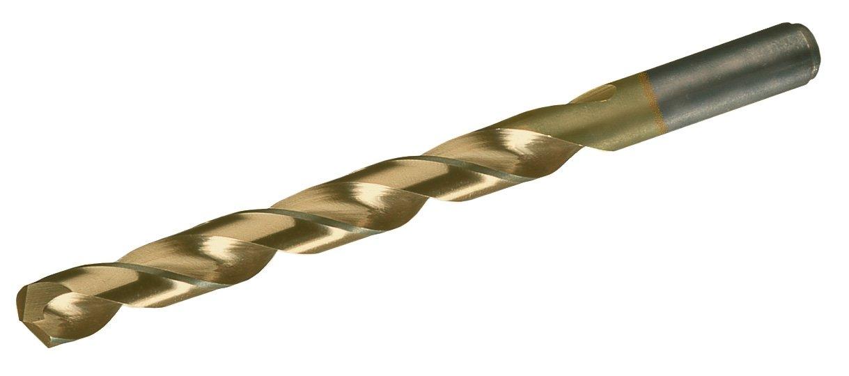 15//64 Size Pack of 12 Round Shank 135 Degree Split Point TiN Coated Chicago Latrobe 150ASP-TN High-Speed Steel Jobber Length Drill Bit