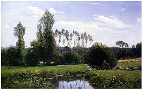 Amazon.es: MyTinyWorld Claude Monet Pintura Vista At Rouelles Le ...
