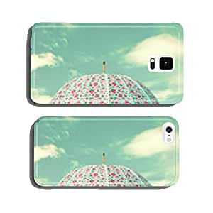 Vintage colorful umbrella and sky with clouds cell phone cover case iPhone5
