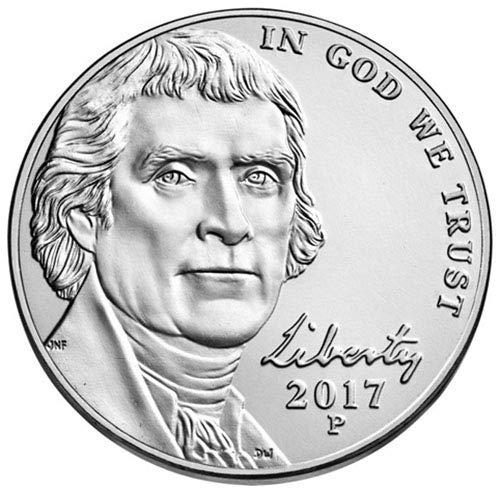 2017 P & D BU Jefferson Nickel Choice Uncirculated US Mint 2 Coin ()