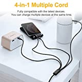 Multi Charging Cable, Multi Charger Cable 2Pack 4FT
