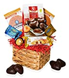 Valentines Day Care Package Heart Gift Baskets - Snacks, Heart Chocolates, Candy - Assortment Variety Present for Men, Women, Friend, College Student, Husband, Wife, Boyfriend, Girlfriend, Love