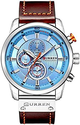 Men Leather Strap Military Watches Men s Chronograph Waterproof Sport Wrist Date Quartz Wristwatch
