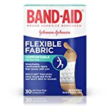 Band-Aid Brand Flexible Fabric Adhesive Bandages For Wound Care, 30 Count