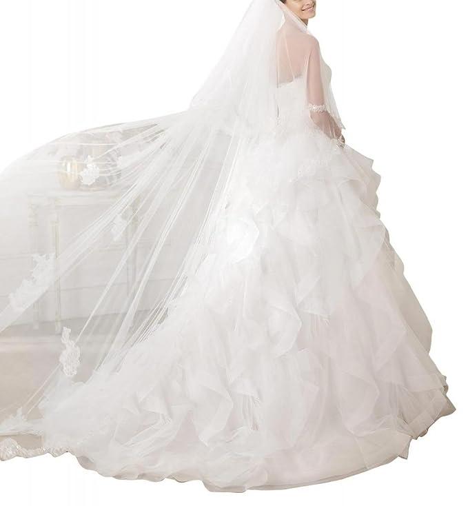 GEORGE BRIDE Liebsten Perlen Mieder voller Rock Huebsches Brautkleid ...