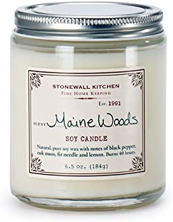 product image for Stonewall Kitchen Maine Woods Soy Candle, 6.5 Ounce