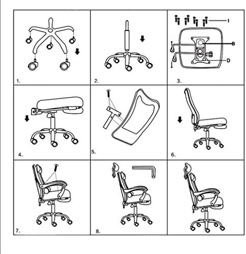 Bar Chaise de bureau Tabourets Fauteuil de bureau pivotant Chaises Chaise Fauteuils d'ergonomie au bureau avec des chaises Ascenseur Petit Ascenseur Reclining HAIKE