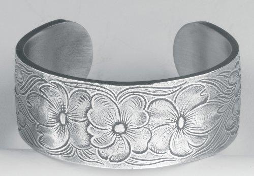 Pewter Flower of the Month Bracelet - Jul Month Pewter Bracelet