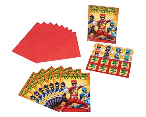 American Greetings Power Rangers Dino Charge Invite Postcards, (8 (Power Ranger Birthday Ideas)