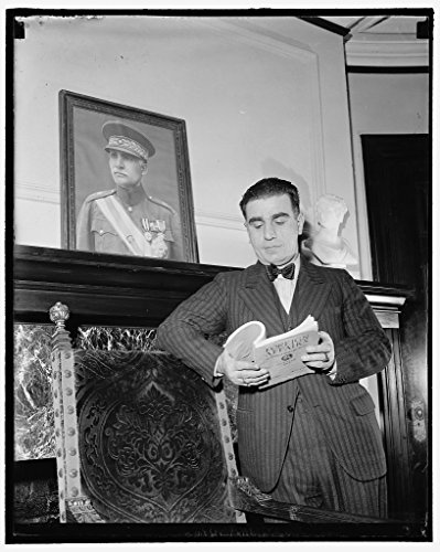 Reproduced 16 x 20 Photo of: Washington, D.C., Feb. 4. Dr. Ali Akbar Daftary, Charge D'Affaires For Iran, Today Took Up His Duties At The Iran Legation Signaling Reopening Of O 1937 Harris & Ewing a27