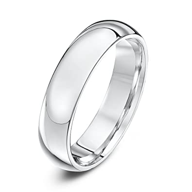 Ladies Mens Unisex Sterling Silver Wedding Ring Band 5mm width