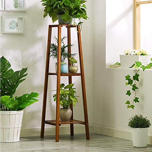 Magshion Bamboo Tall Plant Stand Pot Holder Small Space Table (3 Tier)