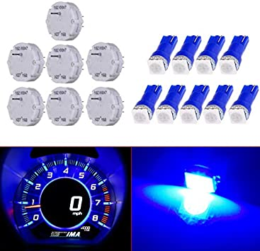 SCITOO 50Pcs 4.7mm Dash Light Bulbs Instrument Gauge Cluster Light Bulbs Speedometer Gauge Cluster Lights