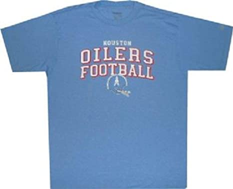 0c1d46ac Reebok Houston Oilers Throwback AFL Helmet Pro Style T Shirt (Medium) Light  Blue