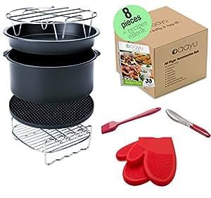 Amazon Com Premium Air Fryer Accessories Set 8 Pieces