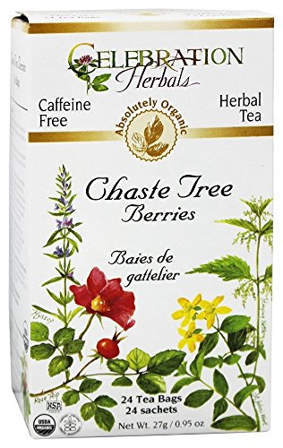 - Celebration Herbals, Chaste Tree Berries Tea Organic 24 Bag