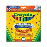 Crayola Ultra, Clean Washable Stampers Markers, 10 CT, School and Craft Supplies, Drawing Gift for Boys and Girls, Kids, Teens Ages  5, 6,7, 8 and Up, Holiday Toys, Stocking Stuffers, Arts and Crafts