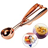 #6: Small Cookie Scoop Ice Cream Scoops Copper Truffle Scoop 18/8 Stainless Steel Scoop Melon Baller Fruit Salad Scoop -Ideal For Scoop and Drop Cookie Dough or Cake Pops MBOAT 50MM