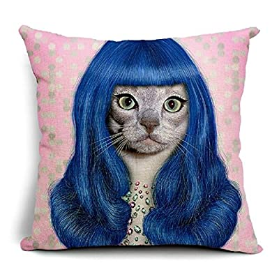 LFarncomboutlet Animal Stars Cat Cosplay Katy Perry Decorative throw pillow original design , back cushion sofa cushion combination