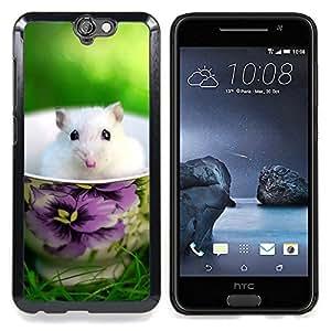 - Cute Mouse Summer Pet White Sweet - Caja del tel????fono delgado Guardia Armor- For HTC ONE A9 Devil Case