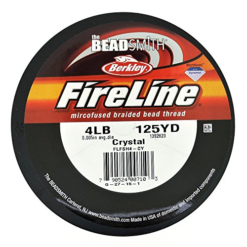 (FireLine Braided Beading Thread 4lb CLEAR .005 In 125 Yards)