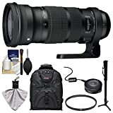 Sigma 120-300mm f/2.8 Sports DG APO OS HSM Zoom Lens with USB Dock + Backpack + Monopod + UV Filter + Kit for Canon EOS Digital SLR Cameras