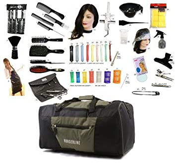 Hairdressing Student Professional 42 Piece Hairdressers College Kit: Amazon.co.uk: Health & Personal Care