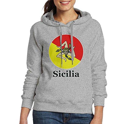 Ash Pocket Hoodie Drawstring Pullover Kangaroo Pride Sweatshirt Sicilia Womens nT8x7UqHU
