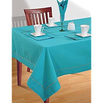 Charmant ShalinIndia AQUA BLUE Tablecloths Spring Decorations For Home Size  60 X 60  Inches