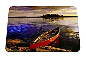 """Canoe in Canadian lake - Gaming Mouse Pad - Mouse Pad - 10.24""""x8.27"""" inches"""