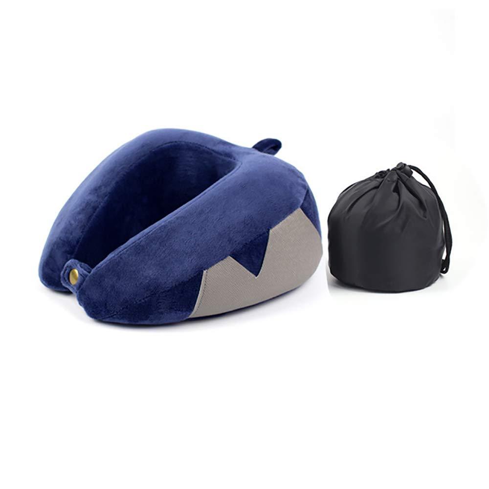 Memory Foam Travel Neck Pillow, Slow Rebound Memory Pillow The Best Travel Pillow Neck and Chin Support Portable Gel Memory Pillow