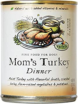 Homestyle Recipes, Mom S Turkey Dinner With Turkey, 12 12.75-Ounce Cans, Natural Dog Food