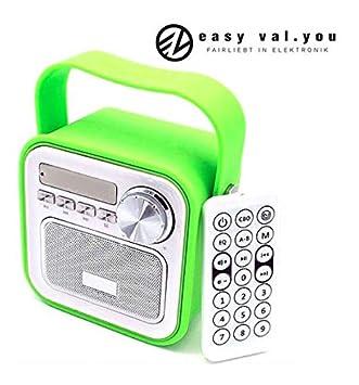 Mini Haut-Parleur Bluetooth avec Radio FM Vert/AUX Bluetooth USB ...