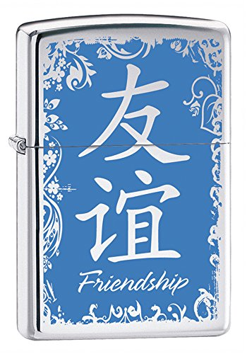 Zippo Chinese Symbol-Friendship High Polish Chrome Lighter
