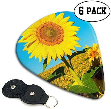 [해외]Xzyauza Summer Sunflower 6 Pack Celluloid Guitar Picks Mandolinand Bass 0.46mm 0.71mm 0.96mm Optional / Xzyauza Summer Sunflower 6 Pack Celluloid Guitar Picks Mandolin,and Bass 0.46mm, 0.71mm, 0.96mm Optional