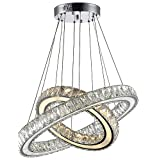 ZSQ products lamp Contemporary Crystal Pendant Lighting Crystal Pendant Light Indoor Lamp Fixtures for Bedroom with 45W D4060CM CE FCC , 110-120v #2083