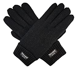 Bruceriver Ladie S Wool Knit Gloves With Thinsulate Lining Size S Black