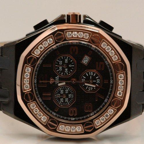 Aqua Master Royal Oak Mens Diamond Watch 1.50ctw W3258 by Aqua Master