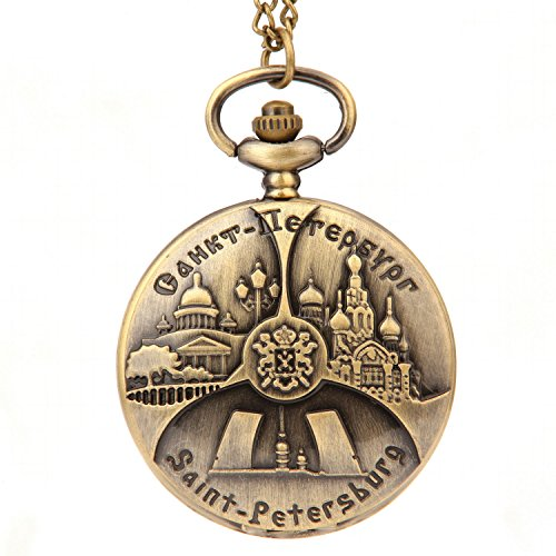 St. Peter's Basilica Church Pattern Round Castle Building Big Pocket Watch (Peters Castle)