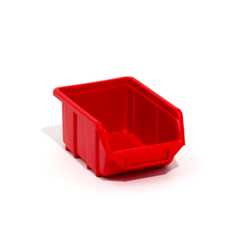 Stapelboxen Stapelbox Sichtlagerkisten Kunstoff PP 165x110x75 Gr. 1 rot Patrol