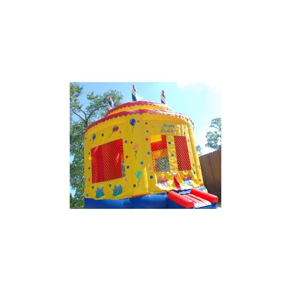 Moonwalk Birthday Cake Inflatable Bounce House