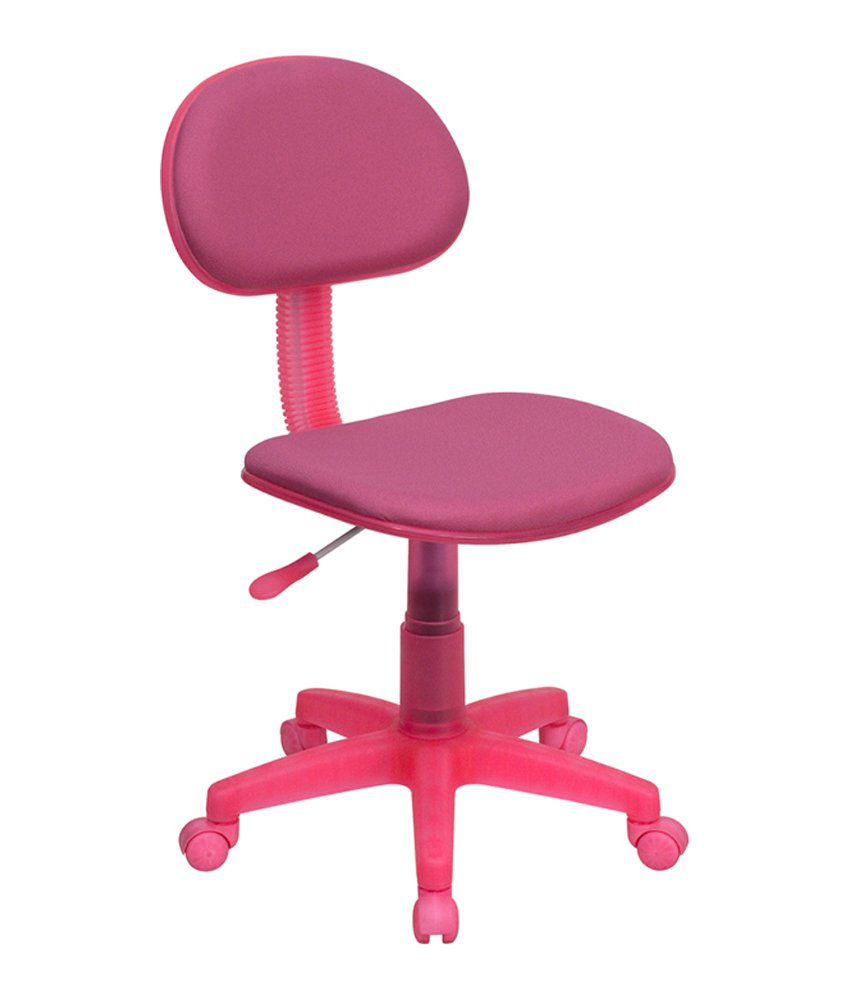 Flash Furniture Pink Fabric Swivel Task Office Chair