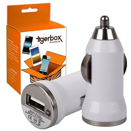 Tigerbox® Compact Micro bala USB cargador de coche adaptador ...