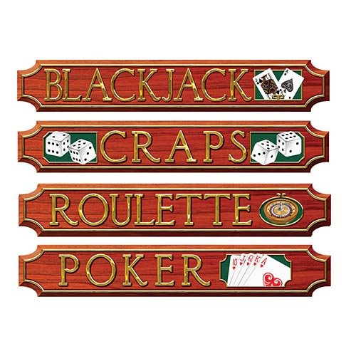Casino Sign Cutouts   (4/Pkg)