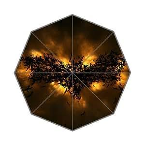 Joryst Fire Batman Logo Fantastic Design Custom Auto Foldable Umbrella Totes Compact Funny Gift