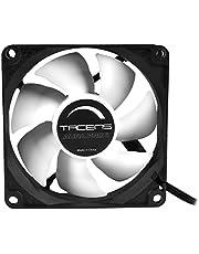 Ahorra en Tacens 3AURAPROII - Ventilador para ordenador (8cm, 1000 RPM, Tecnología Fluxus Pro, adaptadores de velocidad, PWM, ultra silencioso, anti-vibraciones) color negro y más