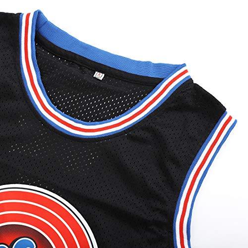 Weltle Men's Basketball Jersey #23 Space Movie Jersey 90s Hip Hop Shirts Black, XL